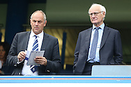 Bruce Buck, the Chelsea Chairmen (r) and Sir. Steve Redgrave looking on from the stands. Premier league match, Chelsea v Leicester city at Stamford Bridge in London on Saturday 15th October 2016.<br /> pic by John Patrick Fletcher, Andrew Orchard sports photography.