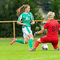 02.08.2020, wohninvest Weserstadion Platz 12, Bremen, GER,FSP, FLYERALARM, FFBL SV Werder Bremen vs  SV Henstedt-Ulzburg, <br /> <br /> <br /> <br />  im Bild<br /> Saskia Schipmmann 31<br /> Tuana Keles (WerderBremen19)<br /> <br /> <br /> <br /> Foto © nordphoto / Kokenge
