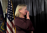 Susan Wild, Democratic candidate for Pennsylvania's new 7th Congressional District, gets emotional as she celebrates a victory in the race during an Election Night event Nov. 6, 2018, at Coca-Cola Park in Allentown, Pennsylvania.