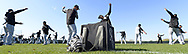 GLENDALE, ARIZONA - FEBRUARY 22:  The Chicago White Sox loosen up during a during spring training workout February 22, 2018 at Camelback Ranch in Glendale Arizona.  (Photo by Ron Vesely/MLB Photos via Getty Images)