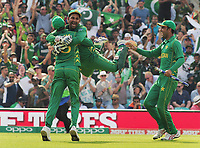 Cricket - 2017 ICC Champions Trophy - Final: Pakistan vs. India<br /> <br /> Sarfraz Ahmed -Pakistan wicket keeper celebrates with his team mates after the final wicket at the Kia Oval.<br /> <br /> COLORSPORT/ANDREW COWIE