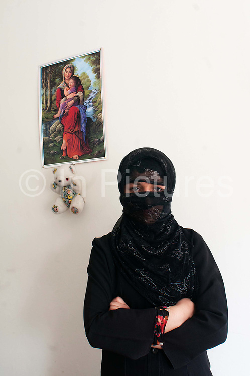 """Afghanistan.Kabul. Hawca safe shelter for women. Angiza, 18 (not her real name) ran away from her violent uncle who tried to sell her off.  """"I am here because my life is in danger.  After my father died, my mother got married for a second time. Now my uncle is in charge of me and he beats me. He got me engaged to someone who I don't know and I don't want to marry him. My mother said she could not keep me safe and said my life was in danger or I could have acid thrown in my face if I did not marry."""""""