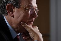 31 JUN 2007, BERLIN/GERMANY:<br /> Juergen Thumann, Praesident Bundesverband der Deutschen Industrie, BDI, und Vorsitzender des Gesellschafterausschusses der Heitkamp & Thumann Group, waehrend einem Interview, Haus der Wirtschaft<br /> IMAGE: 20070731-01-050<br /> KEYWORDS: Jürgen Thumann