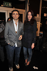 JAMES ARCHER and GWYNETH HARRISON at the Issa Autumn Winter 2011 fashion show as part of the London Fashion Week held at Somerset House, Strand, London on 19th February 2011