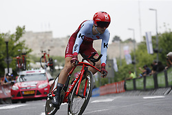 May 4, 2018 - Jerusalem, ISRAEL - Belgian Baptiste Planckaert of Katusha-Alpecin pictured in action during the first stage of the 101st edition of the Giro D'Italia cycling tour, an individual time trial (9,7km) in Jerusalem, Israel, Friday 04 May 2018...BELGA PHOTO YUZURU SUNADA FRANCE OUT (Credit Image: © Yuzuru Sunada/Belga via ZUMA Press)