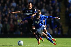 29th October 2017 - Sky Bet EFL Championship - Birmingham City v Aston Villa - John Terry of Villa battles with Isaac Vassell of Birmingham - Photo: Simon Stacpoole / Offside.