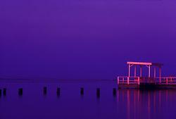 Galveston Bay sunset on the Texas Gulf coast.