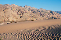 Sand dunes at the base of the Inyo Mountains in Saline Valley, Death Valley National Park, California