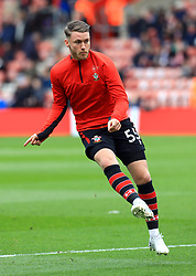 Southampton's Callum Slattery warms up before the game