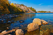 Rocky shoreline alongLake Superior<br /> Agawa Bay. Lake Superior Provincial Park.<br /> Ontario<br /> Canada