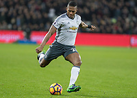 Football - 2016 / 2017 Premier League - West Ham United vs. Manchester United<br /> <br /> Antonio Valencia of Manchester United at The London Stadium.<br /> <br /> COLORSPORT/DANIEL BEARHAM