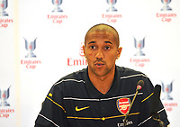 Photo: Tony Oudot/Richard Lane Photography. Emirates Cup Press Conference. 01/08/2008. Arsenal's Gael Clichy.