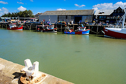 Fishing boats tied up in the harbour at Whitstable, Kent, England<br /> <br /> (c) Andrew Wilson | Edinburgh Elite media