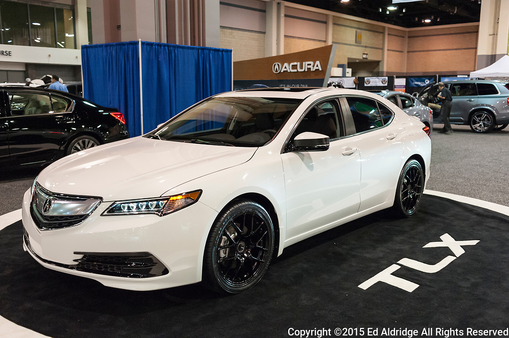 CHARLOTTE, NC, USA - November 11, 2015: Acura TLX on display during the 2015 Charlotte International Auto Show at the Charlotte Convention Center in downtown Charlotte.
