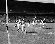 03/05/1970<br /> 05/03/1970<br /> 3 May 1970<br /> National Hurling League Final: Limerick v Cork at Croke Park, Dublin. <br /> Limerick defender, J. Doom (6) saves a shot during a Cork attack.