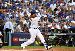 October 24, 2017 - Los Angeles, California, U.S. - Los Angeles Dodgers' Justin Turner during game one of a World Series baseball game against the Houston Astros at Dodger Stadium on Tuesday, Oct. 24, 2017 in Los Angeles. (Photo by Keith Birmingham, Pasadena Star-News/SCNG) (Credit Image: © San Gabriel Valley Tribune via ZUMA Wire)
