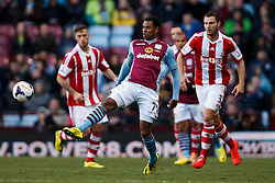 Aston Villa Forward Leandro Bacuna (NED) in action - Photo mandatory by-line: Rogan Thomson/JMP - 07966 386802 - 23/03/2014 - SPORT - FOOTBALL - Villa Park, Birmingham - Aston Villa v Stoke City - Barclays Premier League.