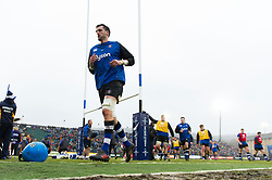 Luke Charteris and the rest of the Bath Rugby team leave the field after the pre-match warm-up - Mandatory byline: Patrick Khachfe/JMP - 07966 386802 - 27/01/2018 - RUGBY UNION - The Recreation Ground - Bath, England - Bath Rugby v Newcastle Falcons - Anglo-Welsh Cup
