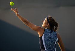 August 11, 2018 - Monica Puig of Puerto Rico in action during qualifications at the 2018 Western & Southern Open WTA Premier 5 tennis tournament. Cincinnati, USA, August 11, 2018 (Credit Image: © AFP7 via ZUMA Wire)