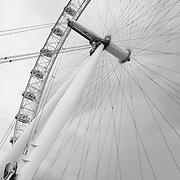 London Eye Spokes - London, UK - Black & White