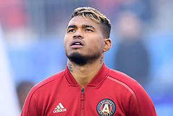 October 28, 2018 - Toronto, ON, U.S. - TORONTO, ON - OCTOBER 28: Josef Martinez (7) of Atlanta United FC stands for the national anthems before the MLS Decision Day match between Toronto FC and Atlanta United FC on October 28, 2018, at BMO Field in Toronto, ON, Canada. (Photograph by Julian Avram/Icon Sportswire) (Credit Image: © Julian Avram/Icon SMI via ZUMA Press)