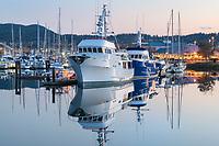 Twilight over Cape Sante Marina Anacortes Washington