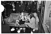 MOLLY FERRER; LINDSAY ULMANN,  Snowball Bash, Au Bar, Manhattan. 23 January 1990,<br /> <br /> <br /> SUPPLIED FOR ONE-TIME USE ONLY> DO NOT ARCHIVE. © Copyright Photograph by Dafydd Jones 248 Clapham Rd.  London SW90PZ Tel 020 7820 0771 www.dafjones.com
