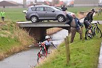 STEEGMANS Gert (BEL) Trek, BOASSON HAGEN Edvald (NOR), Crash Chute during the 77th Gent - Wevelgem in Belgium, Gent (Deinze) - Wevelgem (239Km) on March 29, 2015. Photo Tim de Waele / DPPI
