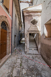 Earthquake in Valnerina. Pictured: Ussita *** NO WEB *** *** NO DAILY