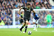 Diego Costa of Chelsea in action. Premier league match, Everton v Chelsea at Goodison Park in Liverpool, Merseyside on Sunday 30th April 2017.<br /> pic by Chris Stading, Andrew Orchard sports photography.
