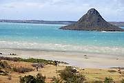 Madagascar, Northern Madagascar, Antsiranana (Diego-Suarez) Bay. Sugar Loaf (volcanic cone) in the background