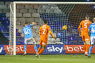 Bradford City forward David Ball(40) puts the ball in the net - disallowed during the EFL Sky Bet League 1 match between Luton Town and Bradford City at Kenilworth Road, Luton, England on 27 November 2018.