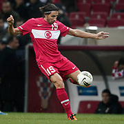 Turkey's Mehmet TOPAL during their UEFA EURO 2012 Play-off for Final Tournament First leg soccer match Turkey betwen Croatia at TT Arena in Istanbul Nüovember11, 2011. Photo by TURKPIX