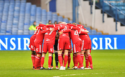 Birmingham City players in a huddle