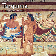 Pictures of Painted Etruscan Tombs of Tarquinia Necropolis, Italy