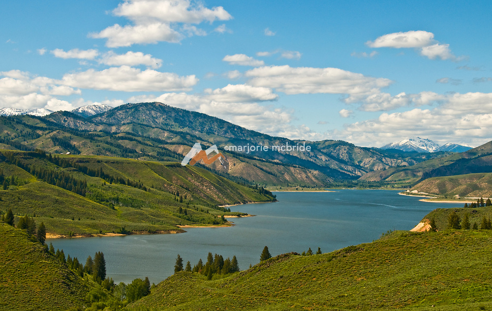 Anderson Ranch Reservoir during spring near Pine and Featherville, Idaho.