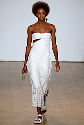 Model Karly Loyce walks on the runway during the Pringle of Scotland Fashion Show during London Fashion Week Spring Summer 2018 held at One Marylebone in London, England on September 18, 2017. (Photo by Jonas Gustavsson/Sipa USA)