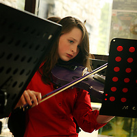 Emily O' Neill at the Maoin Cheiol an Chlair end of year concert in Glor on Wednesday evening.<br /> Photograph by Yvonne Vaughan