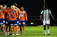 Fotball , 3. februar 2011 , Copa del Sol<br /> Aalesund - Karpaty Lviv<br /> <br /> <br /> Samson Godwin , KL fikk rødt kort og spyttet etter Aalesund-spilleren da han gikk av banen