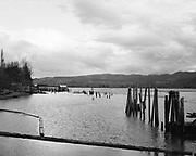 9913-217. View from the shore at Bandon, Oregon, 1970s