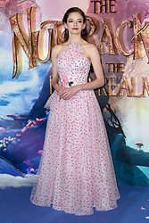 Mackenzie Foy attending the European Premiere of The Nutcracker and the Four Realms held at the Vue, Westfield London. Picture date: Thursday November 1st 2018. Photo credit should read: Matt Crossick/ EMPICS Entertainment.