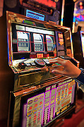 Gambling at casino slot machines, Atlantic City, New Jersey