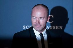 © Licensed to London News Pictures. 06/02/2012. London, UK. Former footballer Alan Shearer arriving on the red carpet for the Laureus World Sports Awards 2012. Dozens of sports and Hollywood celebrities arrived in the English capital to attend the event held at the Queen Elizabeth II Conference Centre in the same year that London will host the Olympic Games. Photo credit : Ben Cawthra/LNP