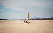Wind sailing, San Juan province, Argentina