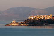 A view of the village of Sperlonga, Italy. Sperlonga is a coastal town in the province of Latina, Italy, about halfway between Rome and Naples.