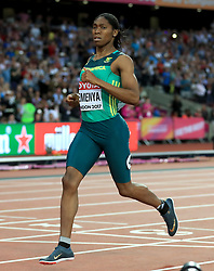 South Africa's Caster Semenya winning the Women's 800m final during day ten of the 2017 IAAF World Championships at the London Stadium. PRESS ASSOCIATION Photo. Picture date: Sunday August 13, 2017. See PA story ATHLETICS World. Photo credit should read: Adam Davy/PA Wire. RESTRICTIONS: Editorial use only. No transmission of sound or moving images and no video simulation.