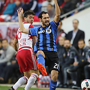 HARRISON, NEW JERSEY- November 06: Matteo Mancosu #21 of Montreal Impact in action during the New York Red Bulls Vs Montreal Impact MLS playoff match at Red Bull Arena, Harrison, New Jersey on November 06, 2016 in Harrison, New Jersey. (Photo by Tim Clayton/Corbis via Getty Images)