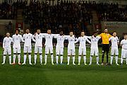 England Team during the U19 International match between England U19's and Italy U19's at the New York Stadium, Rotherham, England on 14 November 2014.