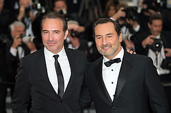 Gilles Lellouche and Jean Dujardin arriving on the red carpet of 'La Belle Epoque' screening held at the Palais Des Festivals in Cannes, France on May 20, 2019 as part of the 72th Cannes Film Festival. Photo by Nicolas Genin/ABACAPRESS.COM