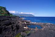 Queen's bath, Princeville, Hanalei, Kauai<br />